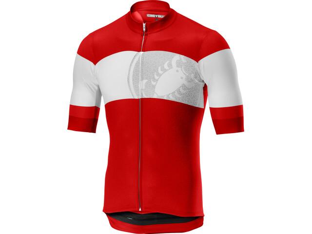 Castelli Ruota Bike Jersey Shortsleeve Men red white at Bikester.co.uk be24d8a6b